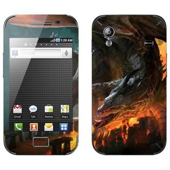 Виниловая наклейка «Drakensang fire» на телефон Samsung Galaxy Ace