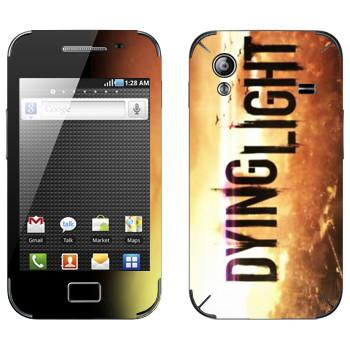 Виниловая наклейка «Dying Light лого» на телефон Samsung Galaxy Ace