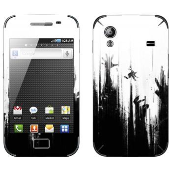 Виниловая наклейка «Dying Light руки зомби» на телефон Samsung Galaxy Ace