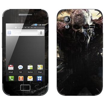 Виниловая наклейка «Dying Light страшный зомби» на телефон Samsung Galaxy Ace