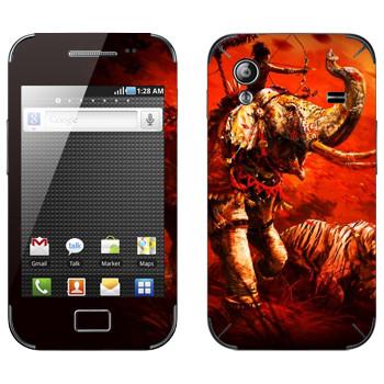 Виниловая наклейка «Far Cry 4 - слон и тигр» на телефон Samsung Galaxy Ace