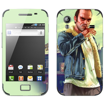 Виниловая наклейка «После драки - GTA 5» на телефон Samsung Galaxy Ace