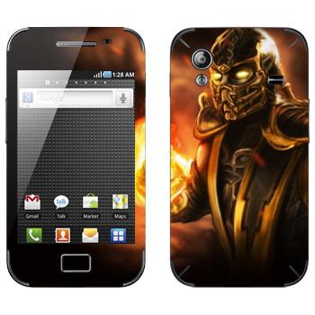 Виниловая наклейка «Скорпион Mortal Kombat» на телефон Samsung Galaxy Ace