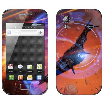 Виниловая наклейка «Star conflict Spaceship» на телефон Samsung Galaxy Ace