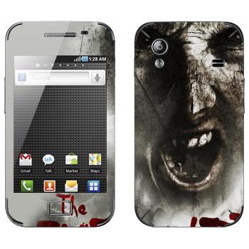 Виниловая наклейка «The Evil Within - Лицо зомби» на телефон Samsung Galaxy Ace