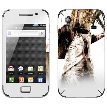 Виниловая наклейка «The Evil Within - Монстр с сейфом на голове» на телефон Samsung Galaxy Ace