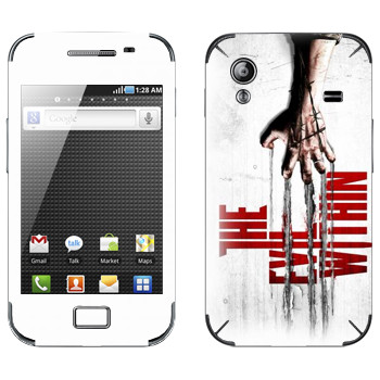 Виниловая наклейка «The Evil Within» на телефон Samsung Galaxy Ace