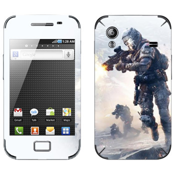 Виниловая наклейка «Titanfall бой» на телефон Samsung Galaxy Ace