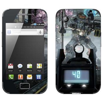 Виниловая наклейка «Titanfall робот на прицеле» на телефон Samsung Galaxy Ace