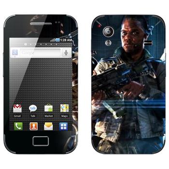Виниловая наклейка «Titanfall темнокожий боец» на телефон Samsung Galaxy Ace