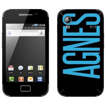 Виниловая наклейка «Agnes» на телефон Samsung Galaxy Ace