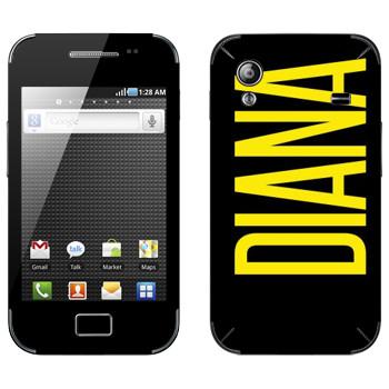 Виниловая наклейка «Diana» на телефон Samsung Galaxy Ace