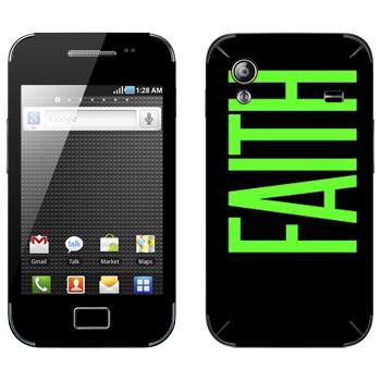 Виниловая наклейка «Faith» на телефон Samsung Galaxy Ace