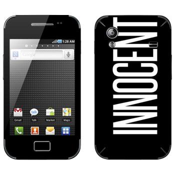 Виниловая наклейка «Innocent» на телефон Samsung Galaxy Ace