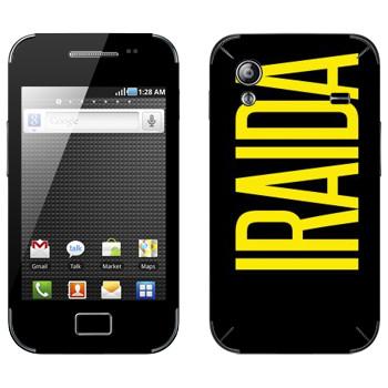 Виниловая наклейка «Iraida» на телефон Samsung Galaxy Ace