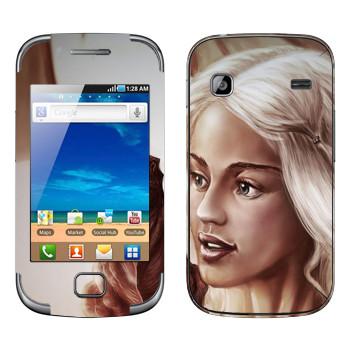 Виниловая наклейка «Daenerys Targaryen - Game of Thrones» на телефон Samsung Galaxy Gio