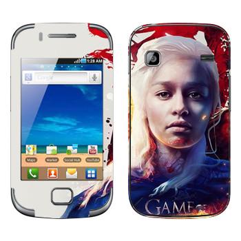 Виниловая наклейка «Дейнерис - Game of Thrones Fire and Blood» на телефон Samsung Galaxy Gio