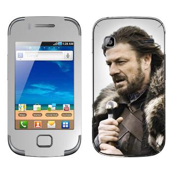 Виниловая наклейка «Эддард Старк» на телефон Samsung Galaxy Gio