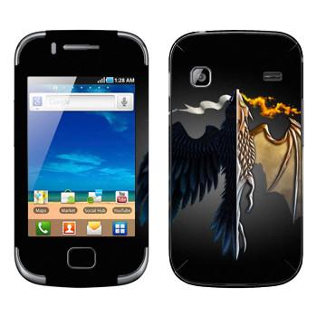 Виниловая наклейка «Игра престолов logo» на телефон Samsung Galaxy Gio