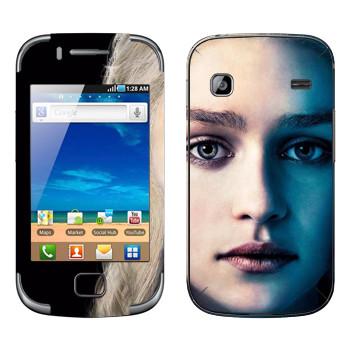 Виниловая наклейка «Королева Дейенерис Таргариен» на телефон Samsung Galaxy Gio