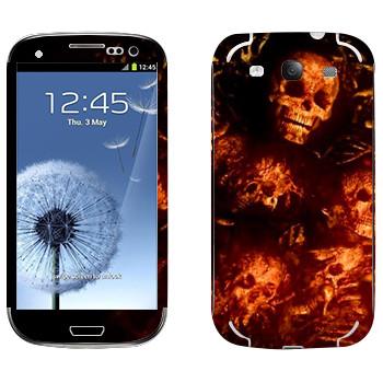 Виниловая наклейка «Dark Souls кости» на телефон Samsung Galaxy S3