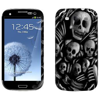 Виниловая наклейка «Dark Souls скелеты» на телефон Samsung Galaxy S3