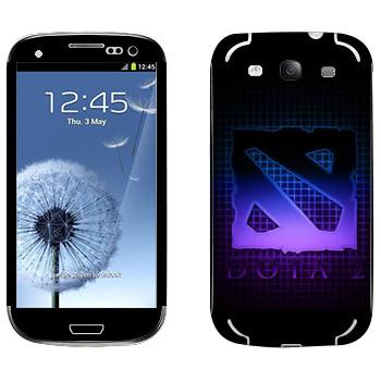 Виниловая наклейка «Dota violet logo» на телефон Samsung Galaxy S3