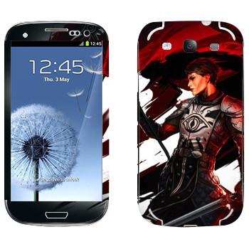 Виниловая наклейка «Dragon Age - Девушка воин» на телефон Samsung Galaxy S3