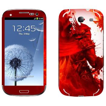 Виниловая наклейка «Dragon Age - Красный рыцарь» на телефон Samsung Galaxy S3