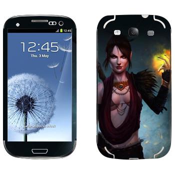 Виниловая наклейка «Dragon Age - Морриган» на телефон Samsung Galaxy S3
