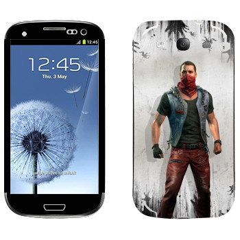 Виниловая наклейка «Dying Light - Кайл Крейн» на телефон Samsung Galaxy S3