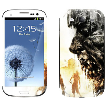 Виниловая наклейка «Dying Light арт» на телефон Samsung Galaxy S3