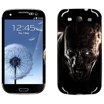 Виниловая наклейка «Dying Light глаза зомби» на телефон Samsung Galaxy S3