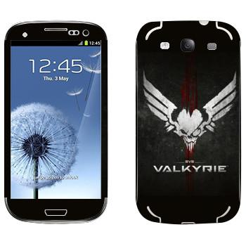 Виниловая наклейка «EVE Валькирия» на телефон Samsung Galaxy S3