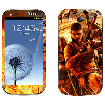 Виниловая наклейка «Far Cry борьба» на телефон Samsung Galaxy S3
