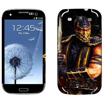 Виниловая наклейка «Ханзо Хасаши - Mortal Kombat» на телефон Samsung Galaxy S3