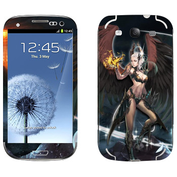 Виниловая наклейка «Lineage Камаэль мистик» на телефон Samsung Galaxy S3
