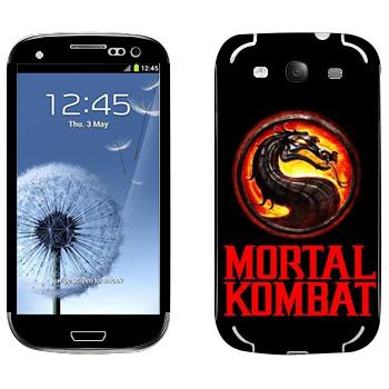 Виниловая наклейка «Mortal Kombat игра» на телефон Samsung Galaxy S3