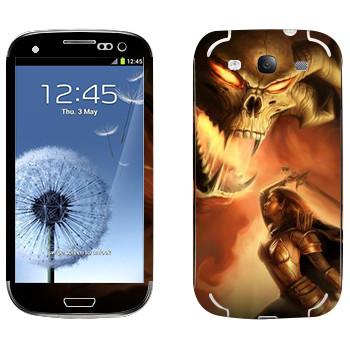 Виниловая наклейка «Neverwinter Дьявол» на телефон Samsung Galaxy S3