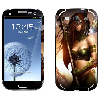 Виниловая наклейка «Neverwinter Женщина-воин» на телефон Samsung Galaxy S3