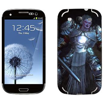 Виниловая наклейка «Neverwinter Рыцарь» на телефон Samsung Galaxy S3