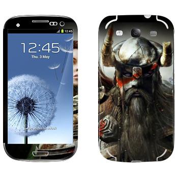 Виниловая наклейка «Neverwinter Викинг» на телефон Samsung Galaxy S3