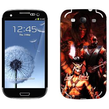 Виниловая наклейка «Персонажи Mortal Kombat» на телефон Samsung Galaxy S3
