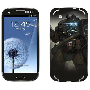 Виниловая наклейка «Shards of war Быкоход» на телефон Samsung Galaxy S3