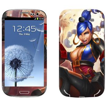 Виниловая наклейка «Shards of war Калибри» на телефон Samsung Galaxy S3