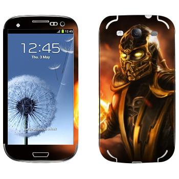 Виниловая наклейка «Скорпион Mortal Kombat» на телефон Samsung Galaxy S3