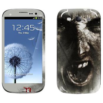 Виниловая наклейка «The Evil Within - Лицо зомби» на телефон Samsung Galaxy S3