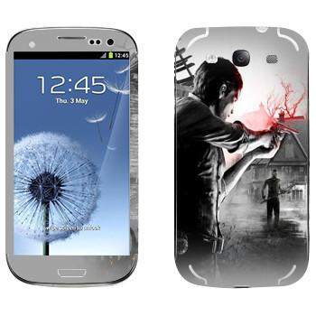 Виниловая наклейка «The Evil Within - Стрельба» на телефон Samsung Galaxy S3