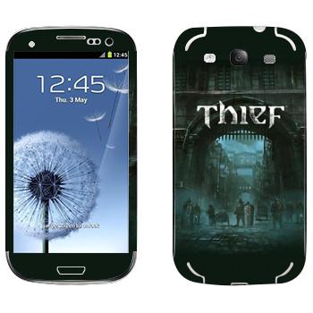 Виниловая наклейка «Thief - Город» на телефон Samsung Galaxy S3