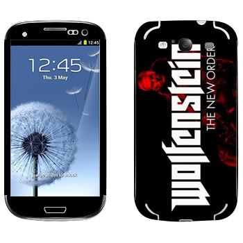 Виниловая наклейка «Wolfenstein - Лого» на телефон Samsung Galaxy S3